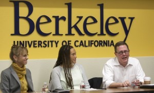 Claire Kinlaw (TerViva), Jessica Granderson (Lawrence Berkeley National Laboratory), and Russ Powell (Peregrine Performance Group) at UC Berkeley Career Fair 2015